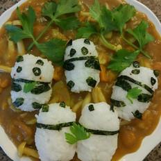 熊猫素咖喱饭