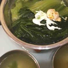 咸蛋芥菜清汤