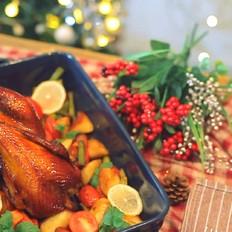 圣诞蜜酱烤鸡