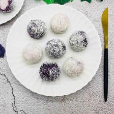 椰蓉紫薯山药夹心球