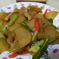 芹菜肉炒土豆片