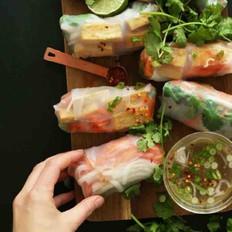 减肥越南米纸春卷