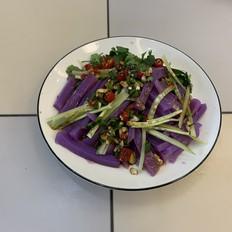 家庭自制紫薯凉粉,超级好吃