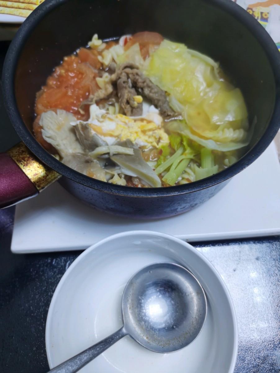 自制混合韩式小火锅
