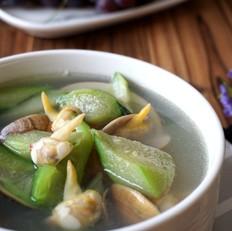 鲜掉眉毛的丝瓜鲜蛤汤