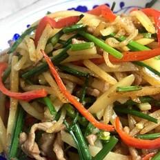 韭菜花炒土豆丝