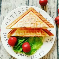 美味营养的三明治早餐,只需3分钟就能搞定