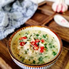 蒲公英鸡蛋疙瘩汤