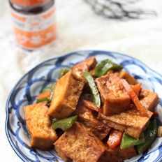 沙茶脆皮豆腐