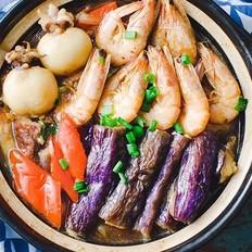 海鲜茄子煲