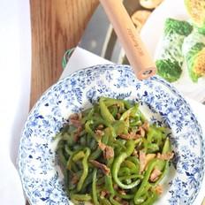 肉丝炒青椒的做法