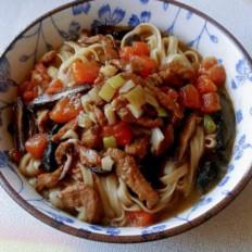 番茄菇肉熗鍋面