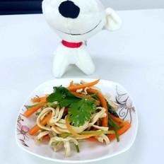 香菜拌豆腐丝