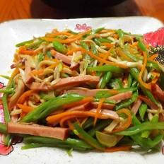 扁豆丝炒杏鲍菇