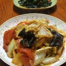 白菜焖豆腐