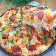菌菇香肠披萨