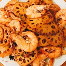 干锅藕片虾