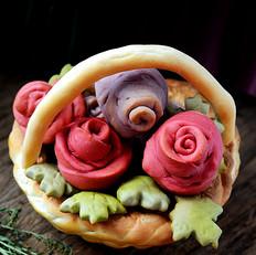 玫瑰花篮面包