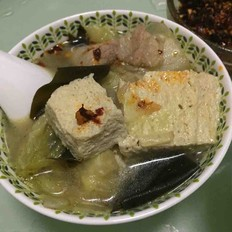 冻豆腐五花肉炖海带白菜
