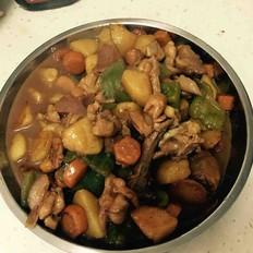 土豆胡萝卜炖鸡块