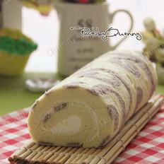 紫薯花纹蛋糕卷