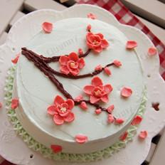 梅花裱花蛋糕