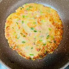 土豆葱花火腿饼