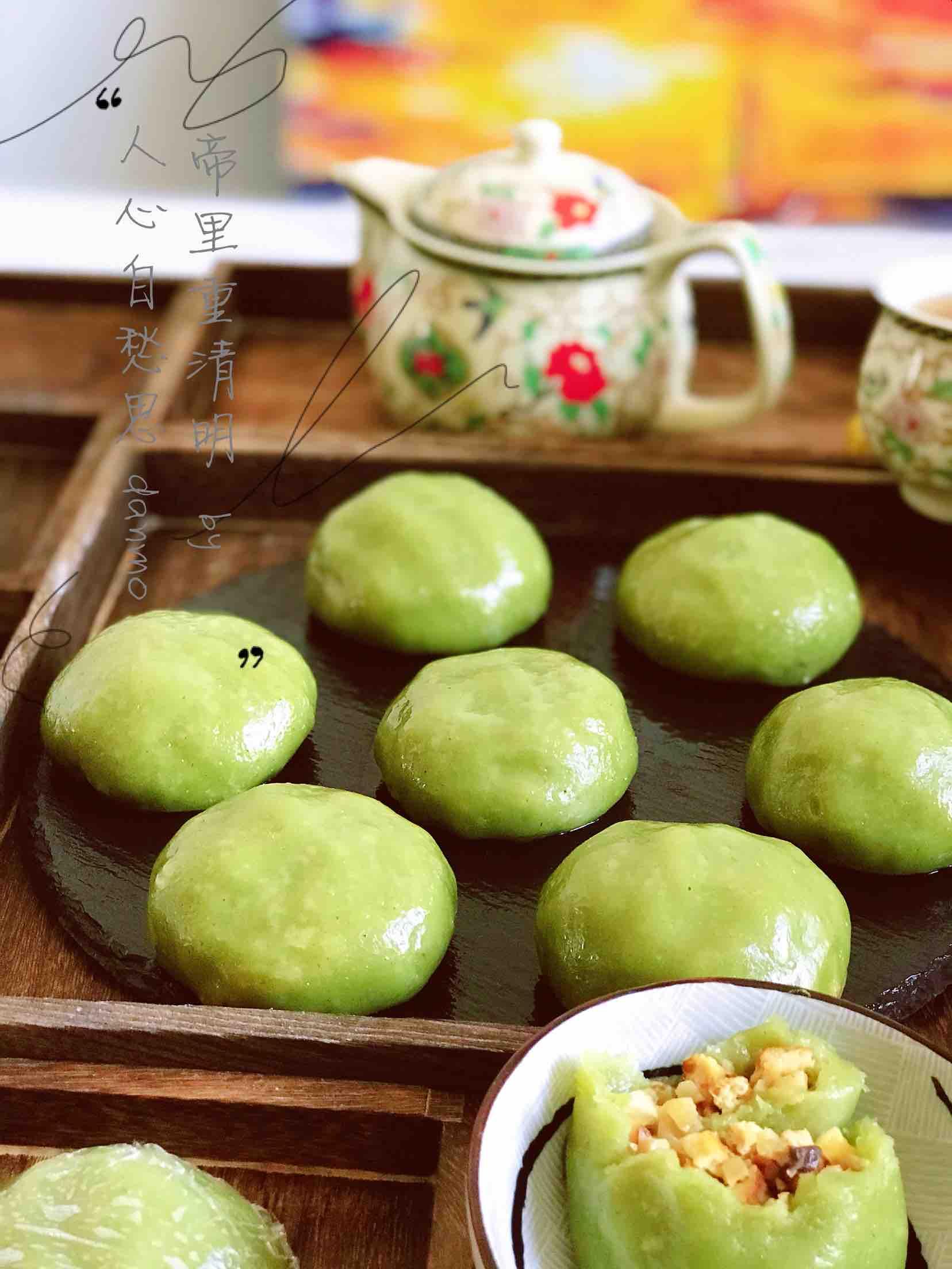 清新爽口带着春的气息的素食笋丁豆腐青团
