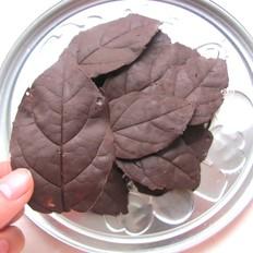 巧克力树叶的制作