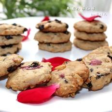 玫瑰燕麦松子饼干