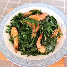 鲜虾炒韭菜