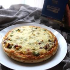 黑椒牛肉肠披萨#科尔沁黑椒牛肉肠试用#