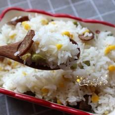香肠玉米青豆饭