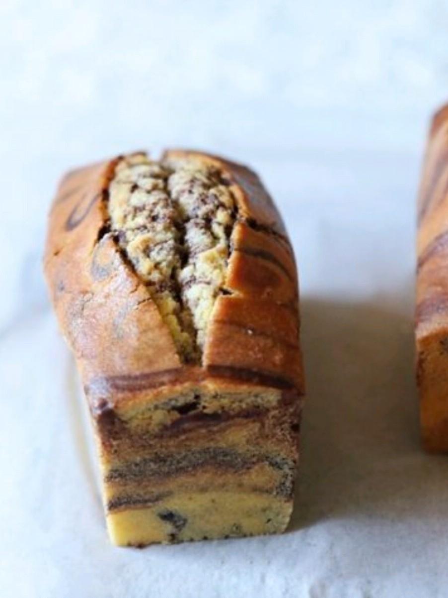 混合双色—大理石磅蛋糕的做法