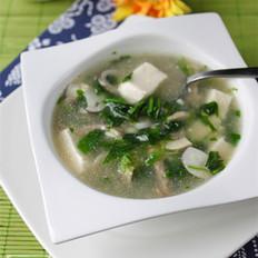 双菇荠菜豆腐羹