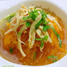 咖喱金瓜鸡丝汤