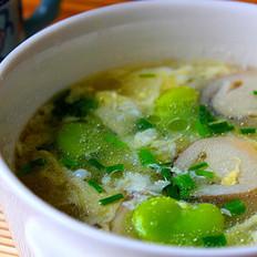 豆瓣草菇蛋花汤的做法