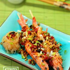 蒜香清蒸竹节虾
