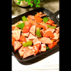 尖椒炒火腿肉