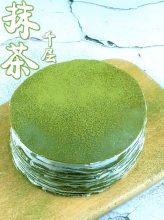 抹茶千層蛋糕的做法