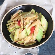西葫芦炒腐竹