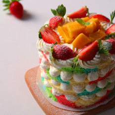 彩虹裸蛋糕
