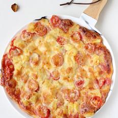 水果脆皮肠薄底披萨