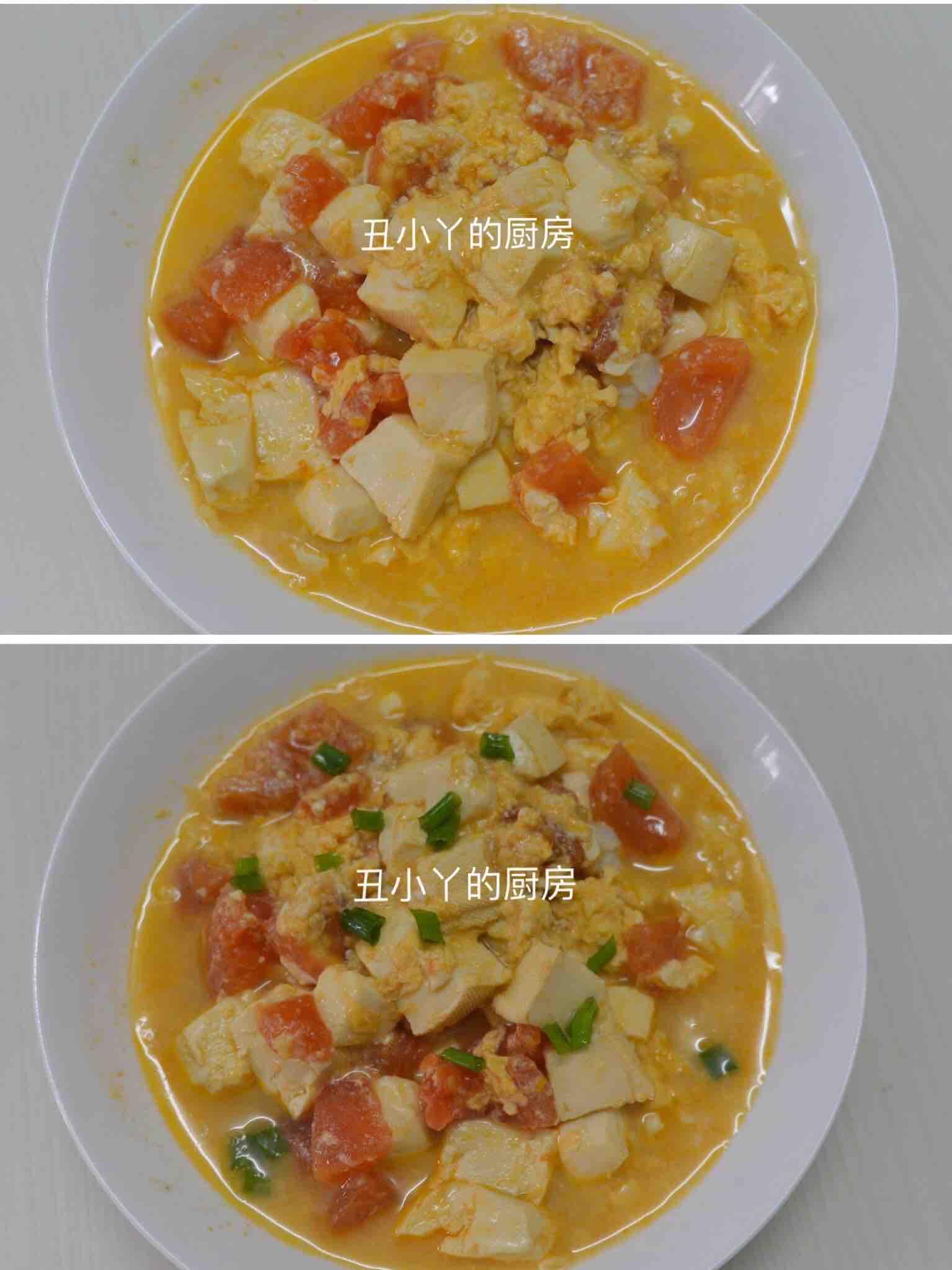 酸爽开胃 番茄豆腐鸡蛋羹