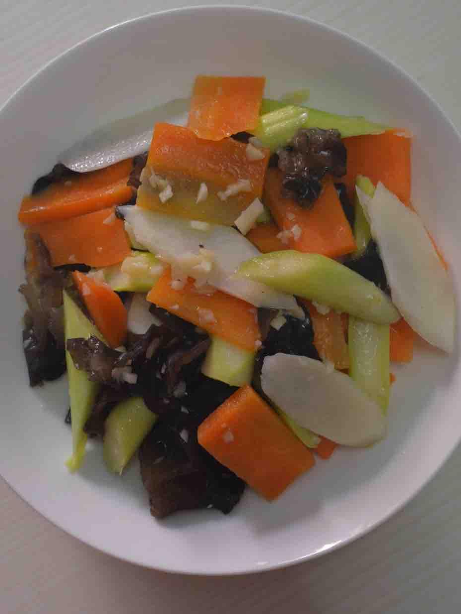 减脂餐 清炒四色小菜