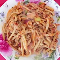 肉炒海鲜菇