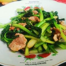 油菜炒肉片