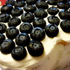 蓝莓戚风和黑森林杏仁蛋糕