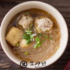 肉丸油豆腐粉丝汤