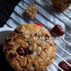 燕麦红枣果仁饼干